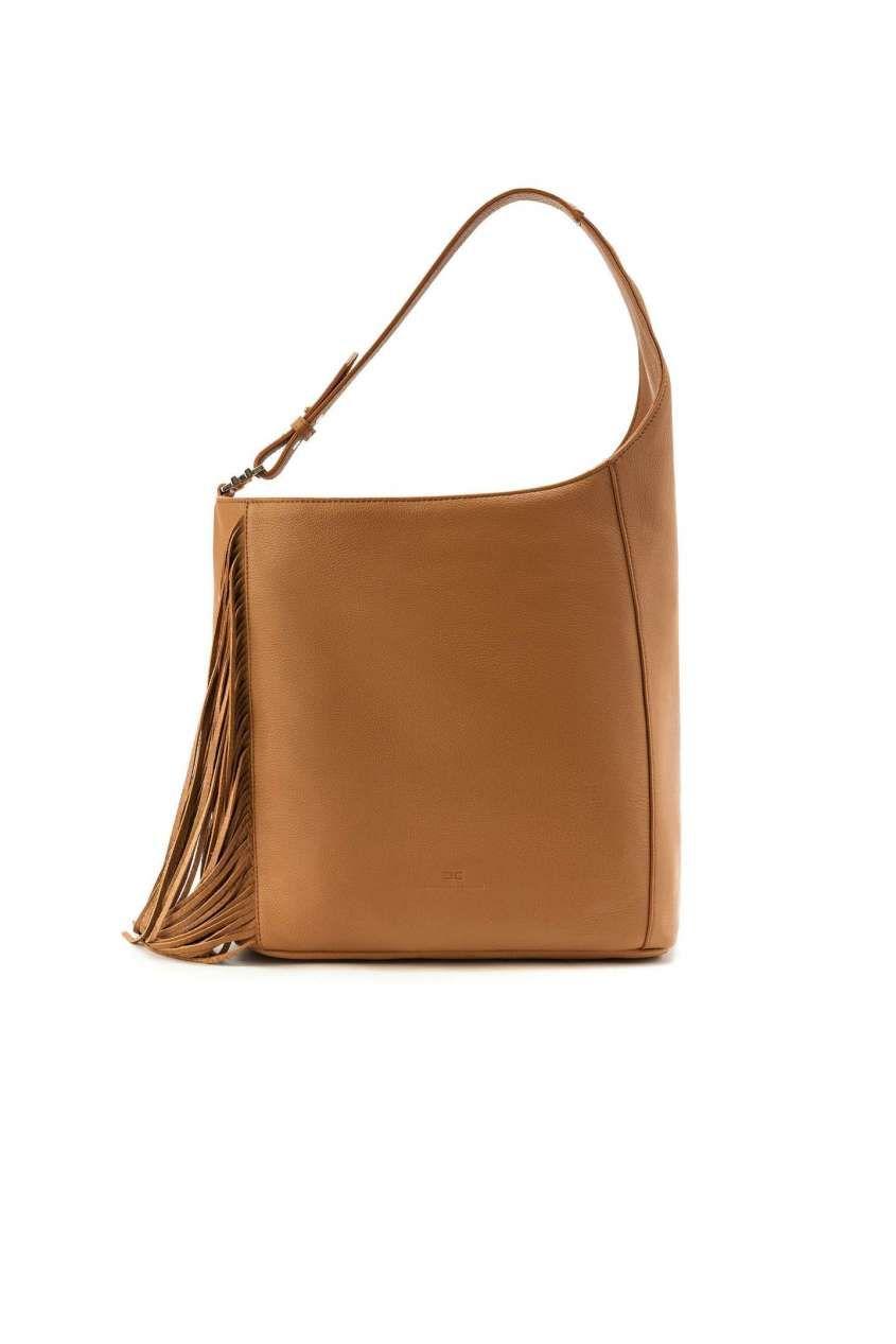 ca60e28f94 Collezione borse Elisabetta Franchi Primavera Estate 2017 - Borsa a spalla  marrone