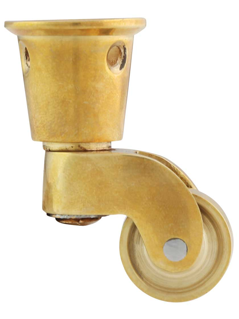 Solid Brass Round Cup Caster With 3 4 Brass Wheel Brass