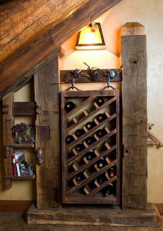 Weinkeller bauen selber machen  rustikales interieur mit diy Holzregal für weinflaschen ...