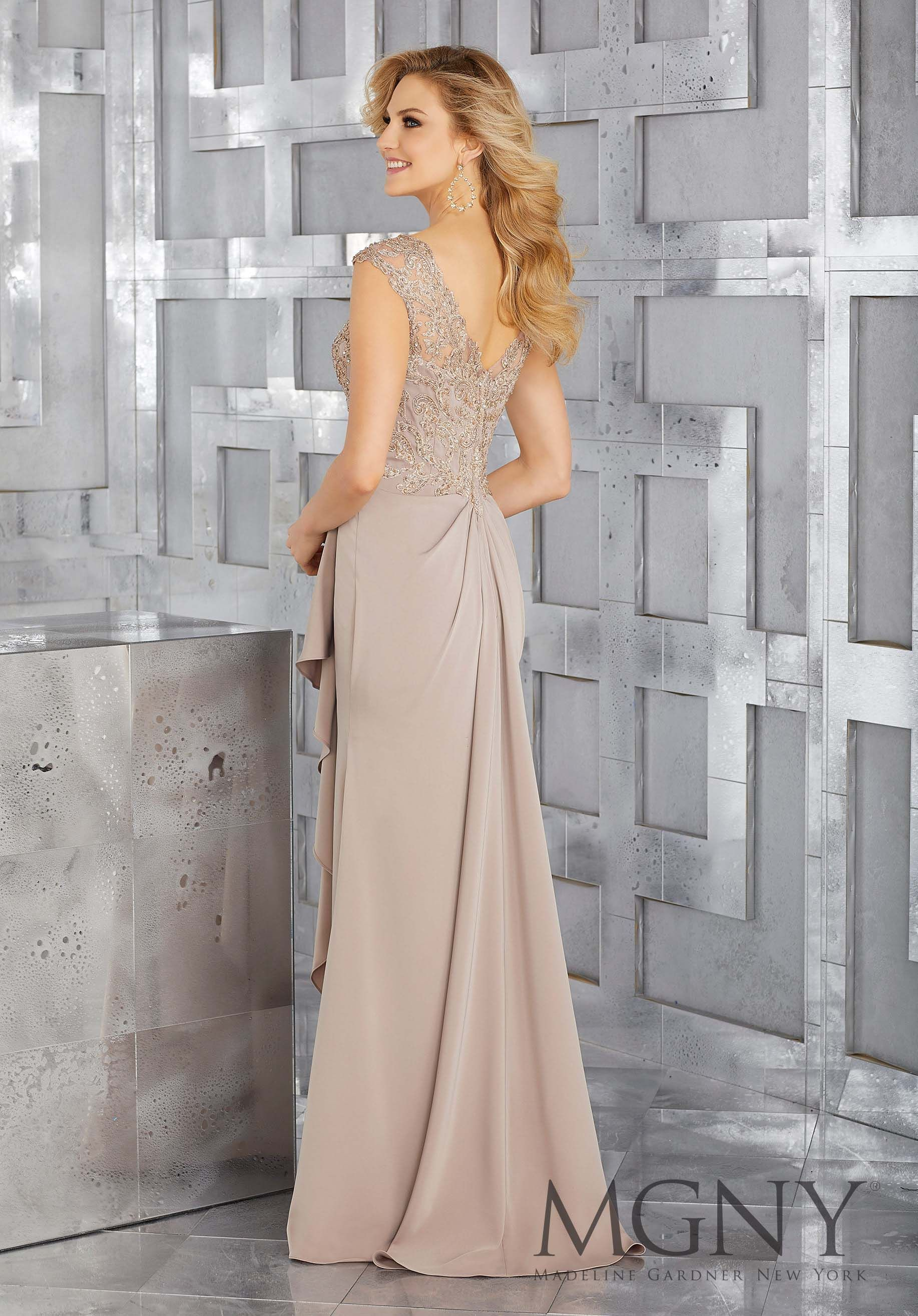 Crepe Mother Of The Bride Gown With Beaded Embroidery And Draping At The Waist Morilee Mother Of The Bride Gown Mother Of The Bride Dresses Mother Of Groom Dresses [ 2630 x 1834 Pixel ]