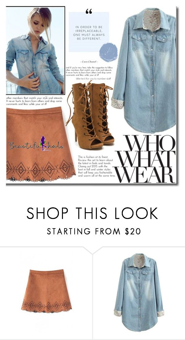 """""""Beautifulhalo III/27"""" by ana-a-m ❤ liked on Polyvore featuring Who What Wear, women's clothing, women, female, woman, misses, juniors and beautifulhalo"""