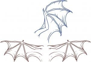 How To Draw Dragon Wings Step By Step Dragons Draw A
