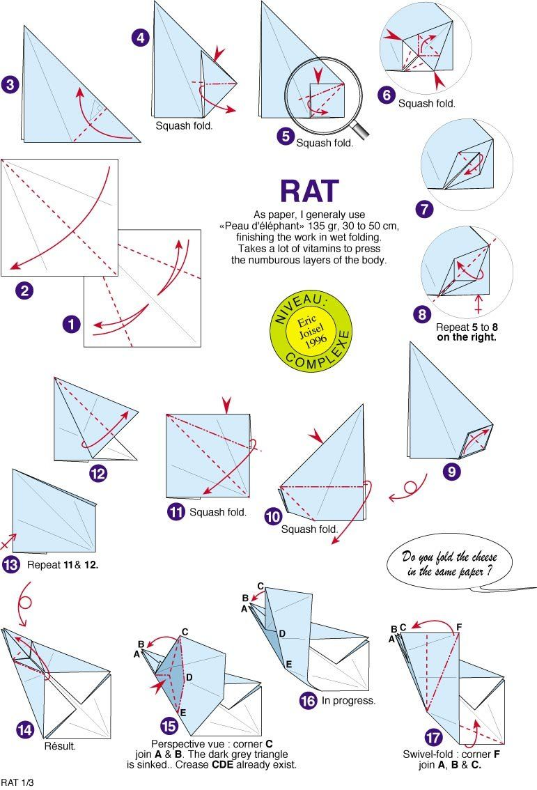Origami Rat By Eric Joisel Crafting Fearsome Ancient Dragon Designed Satoshi Kamiya No Online Diagrams