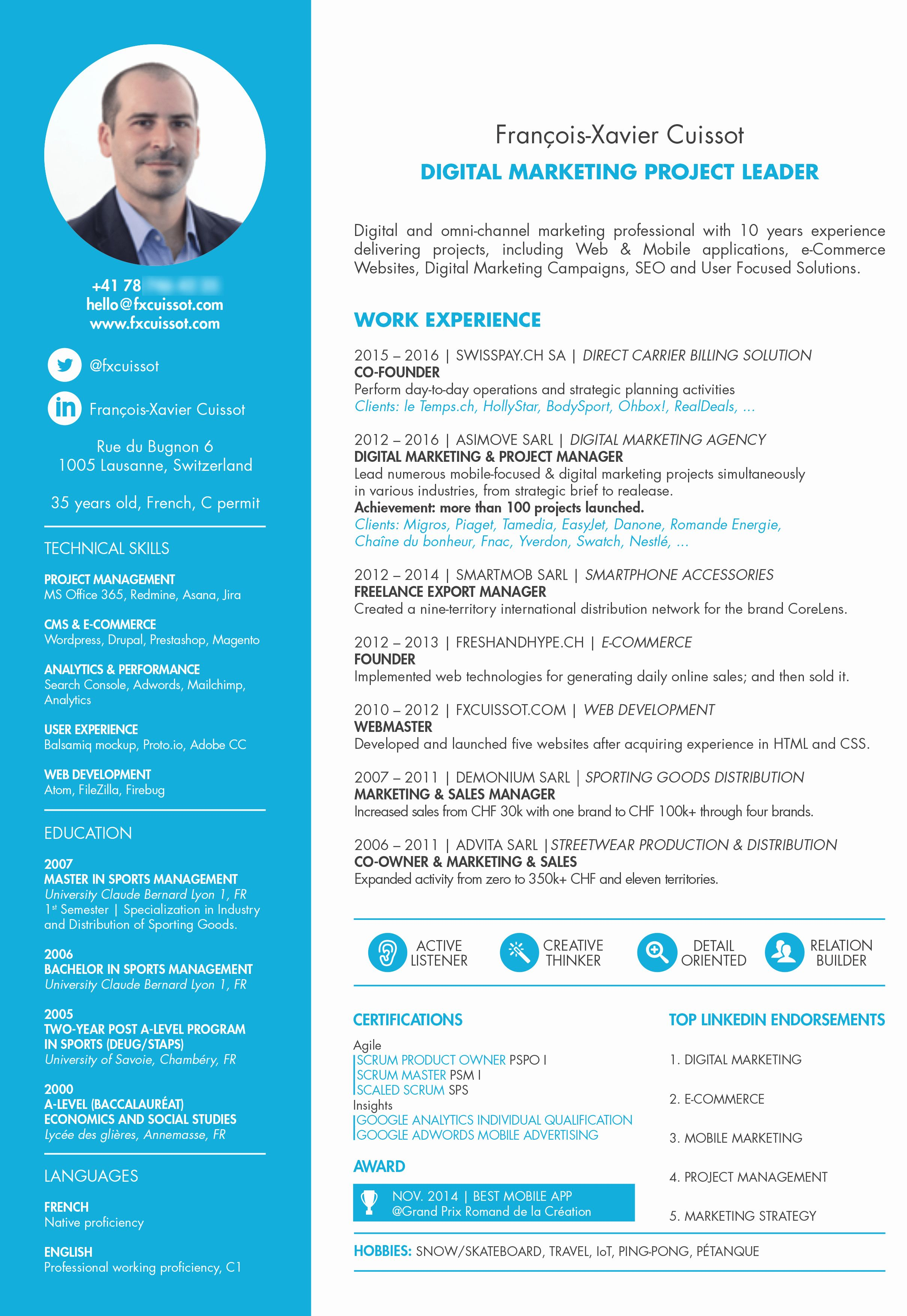 Agile project manager resume fresh certified project
