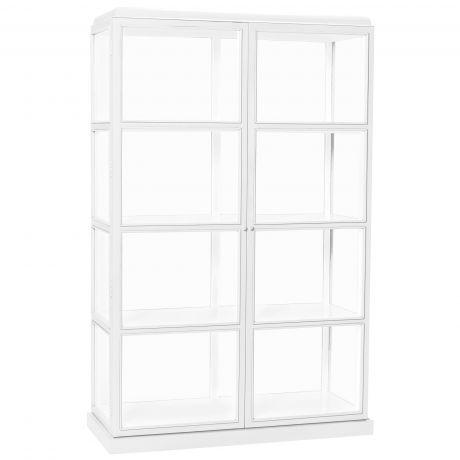 Hübsch Interior Vitrine weiß 110cm breit mit zwei Türen Vitrinen - wohnzimmer vitrine weis