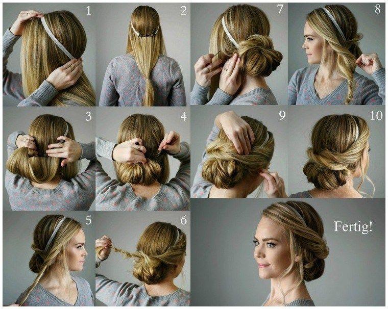 Frisuren Fur Lange Haare Zum Selber Machen Festlich Elegant Lockere Friseur Frisuren Haarband Frisur Anleitung Frisur Hochgesteckt Hochsteckfrisuren Lange Haare