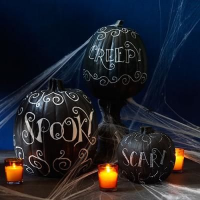 No-Carve Halloween Pumpkin Decorations Them, How to paint and Easy - easy halloween pumpkin ideas