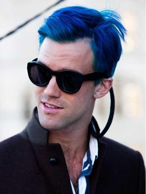 Street Style Guy With Blue Hair Boochar Pinterest Hair Blue