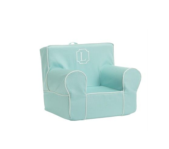 My First Aqua With White Piping Anywhere Chair 174 Baby