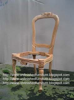 Unfinished Classic Furniture Classic Chair Mahogany Wooden
