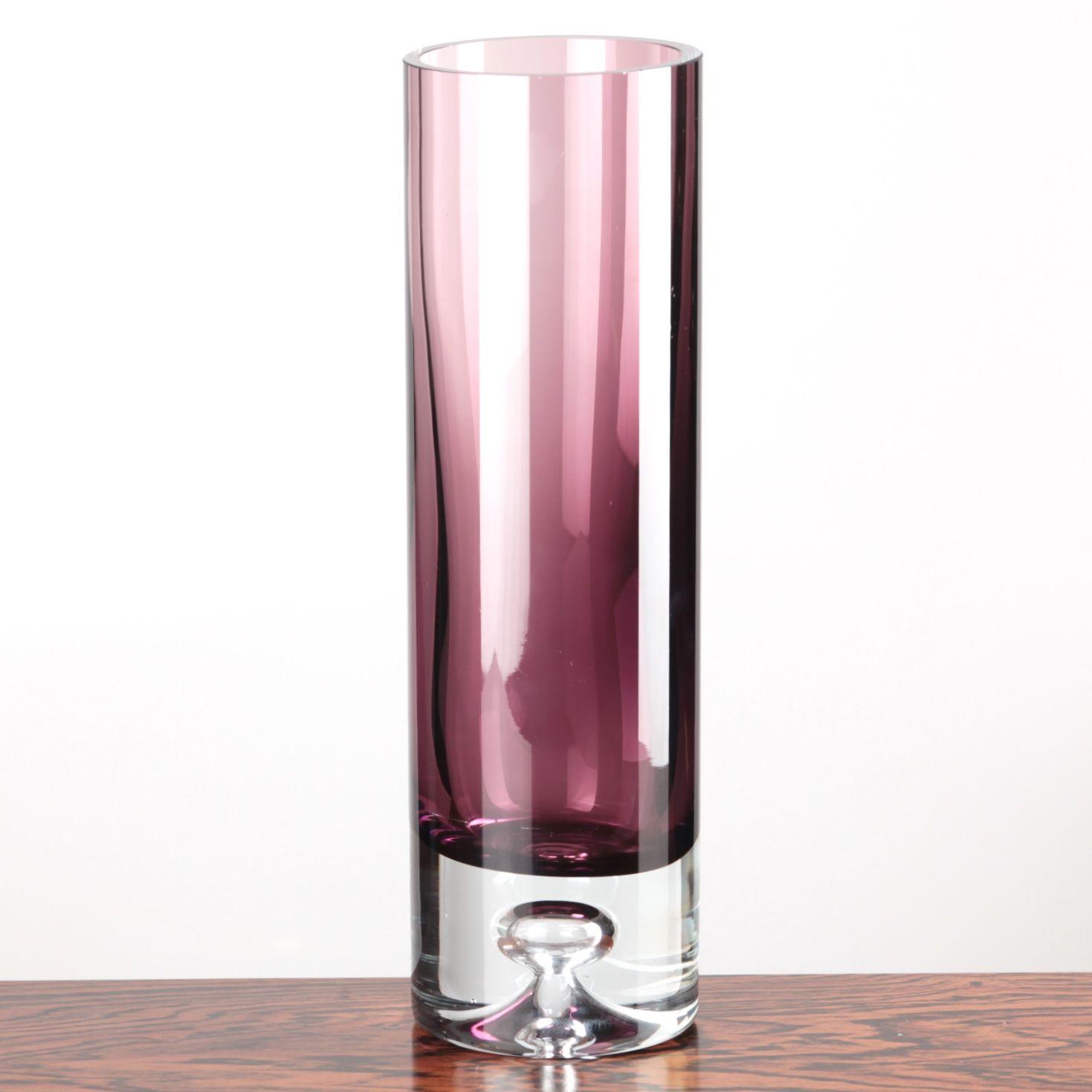 Iittala Glas Vase Lila Design Tapio Wirkkala 25 Cm Hoch