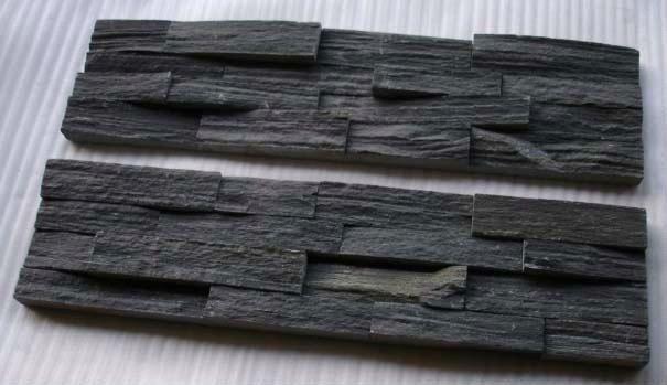 noir de charbon de mur en ardoise placage d corative mur de pierre de culture de panneaux buy. Black Bedroom Furniture Sets. Home Design Ideas