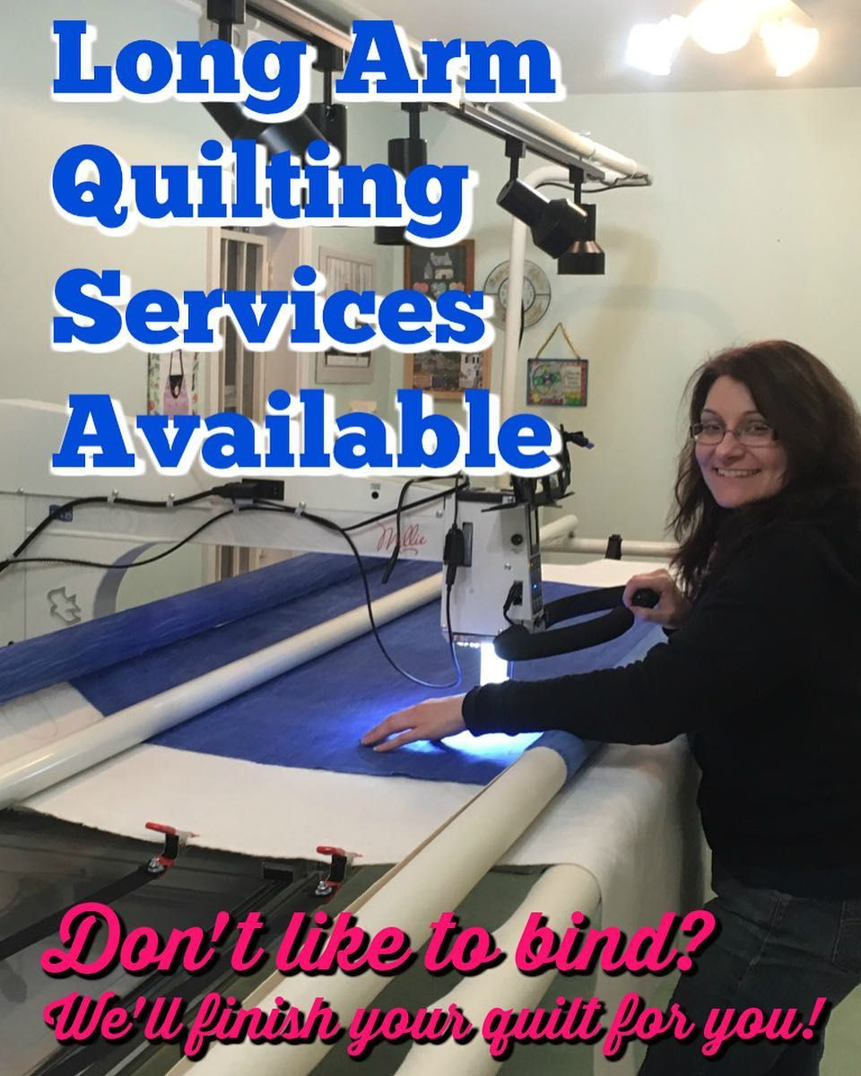 Long Arm Quilting Services Available At Tea Time. Don't
