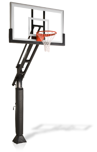 Pro Dunk Gold Basketball System Basketball Goals Basketball Systems Outdoor Basketball Court