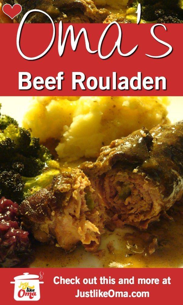 Oma's Beef Rouladen Recipe❤️ #octoberfestfood
