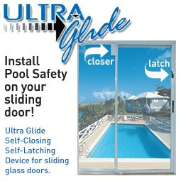 Self Closing Self Latching For Sliding Glass Door Or Pool Safety Dcs Pool Barriers Pool Fence Pool Safety Pool