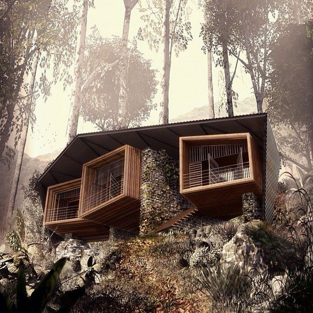 """The Bukit Lawang Eco Lodge by Foster Lomas Architects in Sumatra , Indosesia #Lodge #Lounge #FosterLomas #BukitLawang #Sumatra #Indonesia #Earth #Luxury…"""