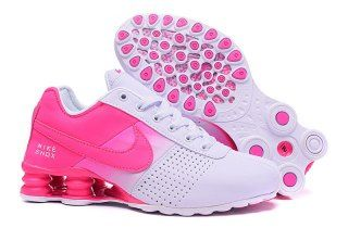 brand new 7cacb ffa2b Womens Nike Shox Deliver Hyper Pink White Girl Sport Athletic Running Shoes