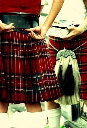 kilts & sporran: Aye! real men ;)  This will be my son in 2 days!  Scotland...here he comes:)