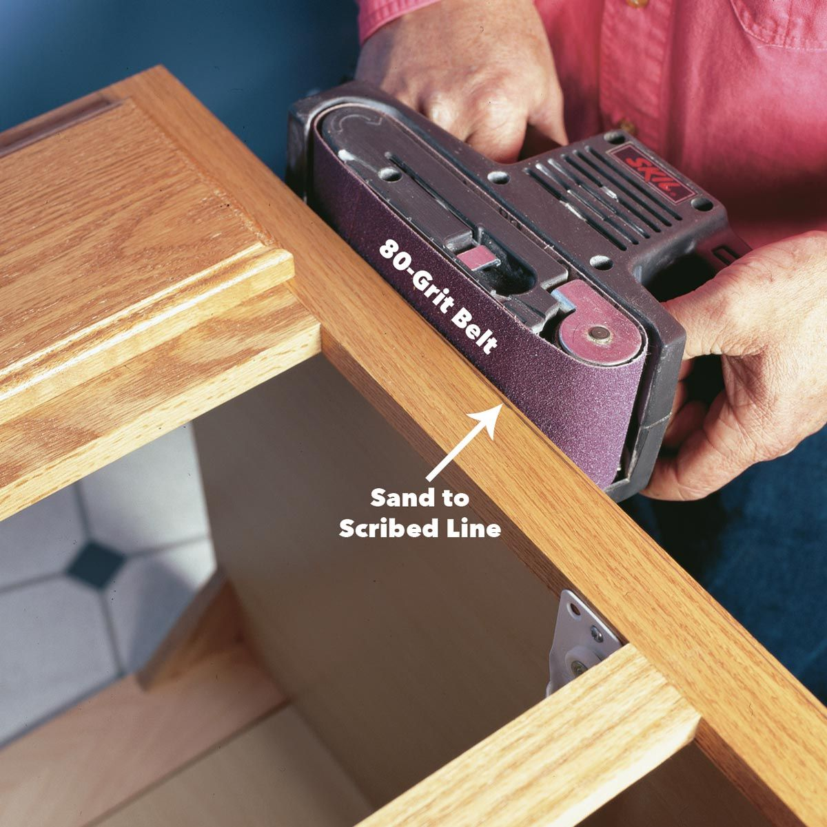 How To Scribe For A Perfect Fit Custom Built Cabinets Installing Cabinets Woodworking