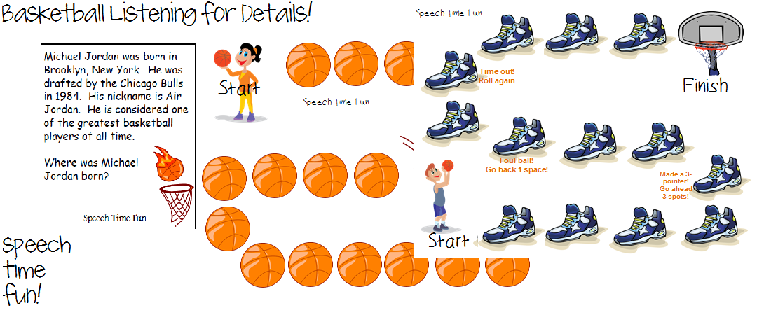 speech time fun basketball theme listening for details activity pinned by sos inc resources. Black Bedroom Furniture Sets. Home Design Ideas
