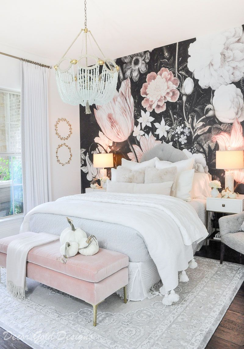 Subtle Fall Touches In The Bedroom Decor Gold Designs Gold Bedroom Decor Bedroom Decor Ideas For Couples Romantic Bedroom Decor