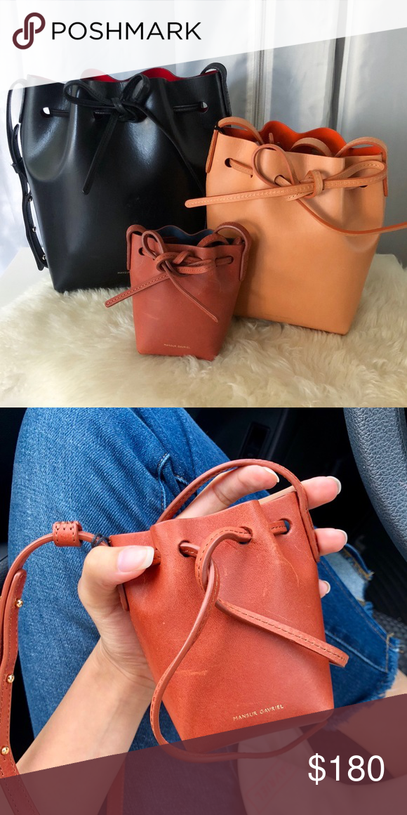 Mansur Gavriel baby bucket Mansur Gavriel baby bucket bag Currently sold  out everywhere! Brandy colored 5f18553a7eed4