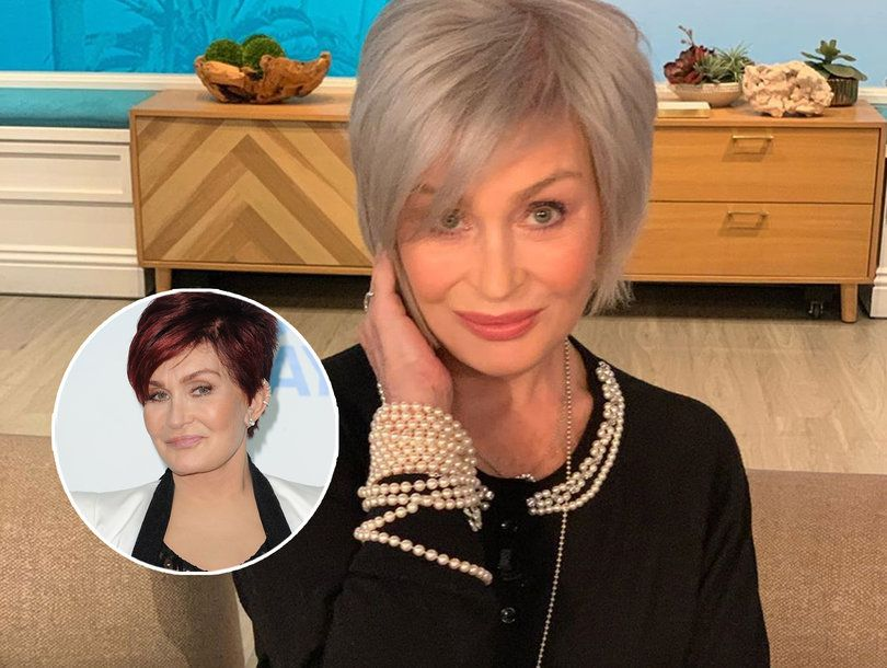 Sharon Osbourne Debuts White Hair On The Talk Reveals Ozzy S Reaction Toofab Com In 2020 Silver Blonde Hair Sharon Osbourne Hair Silver Blonde