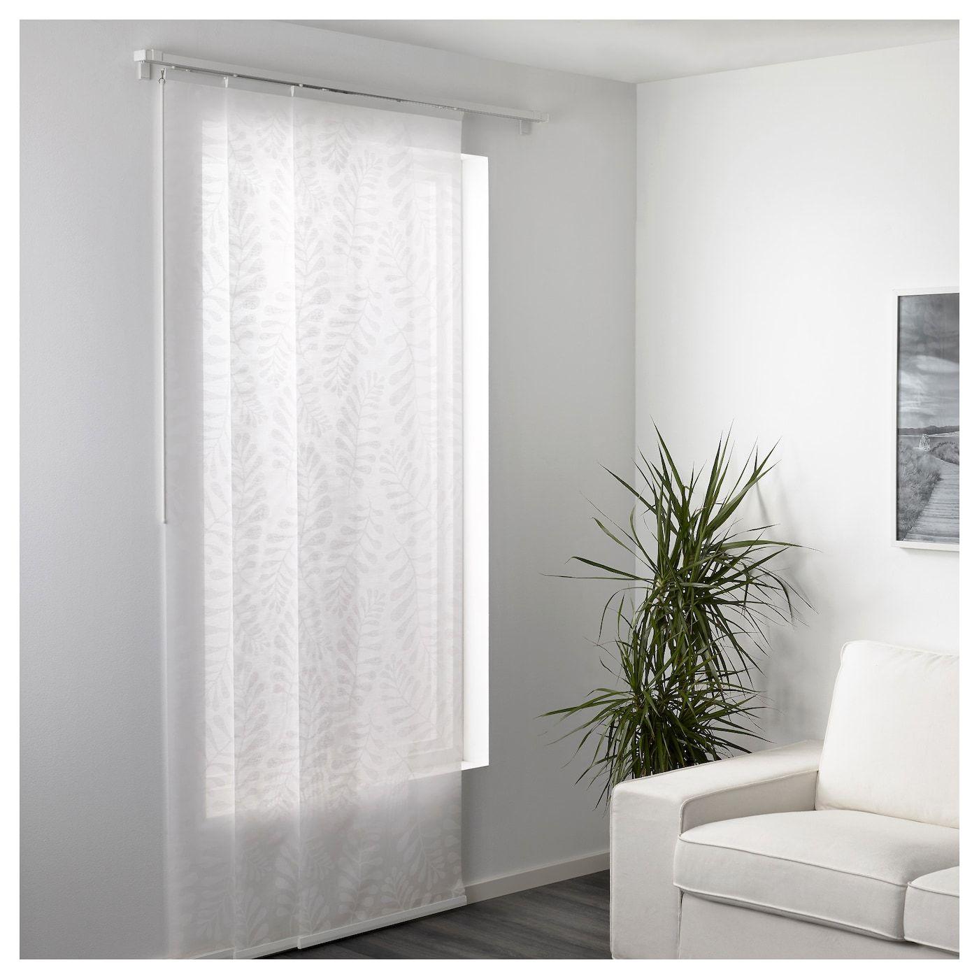 Yrla Schiebegardine Weiss Weiss Ikea Deutschland Panel Curtains White Paneling White Curtains