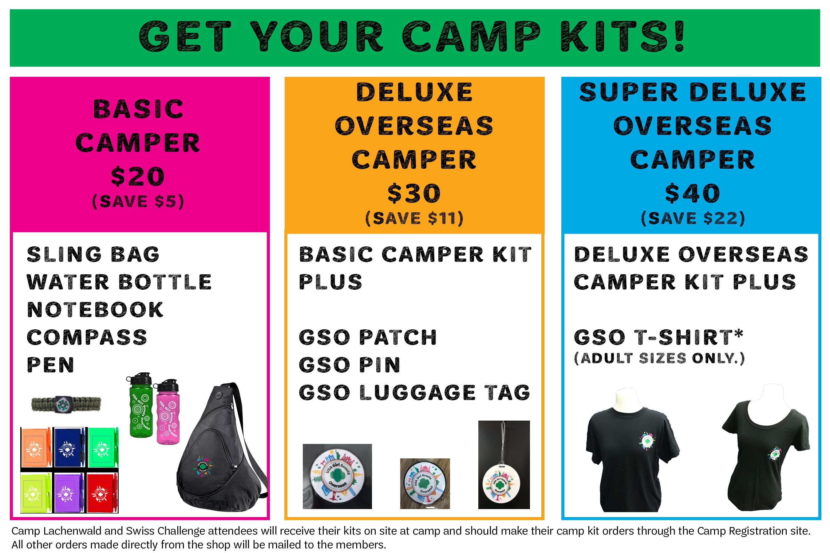 Camp Kits Order At Overseasshop Girlscouts