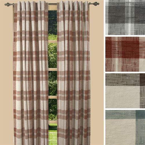 Shannon Plaid Curtain Panel Plaid Curtains Curtains Tab Curtains