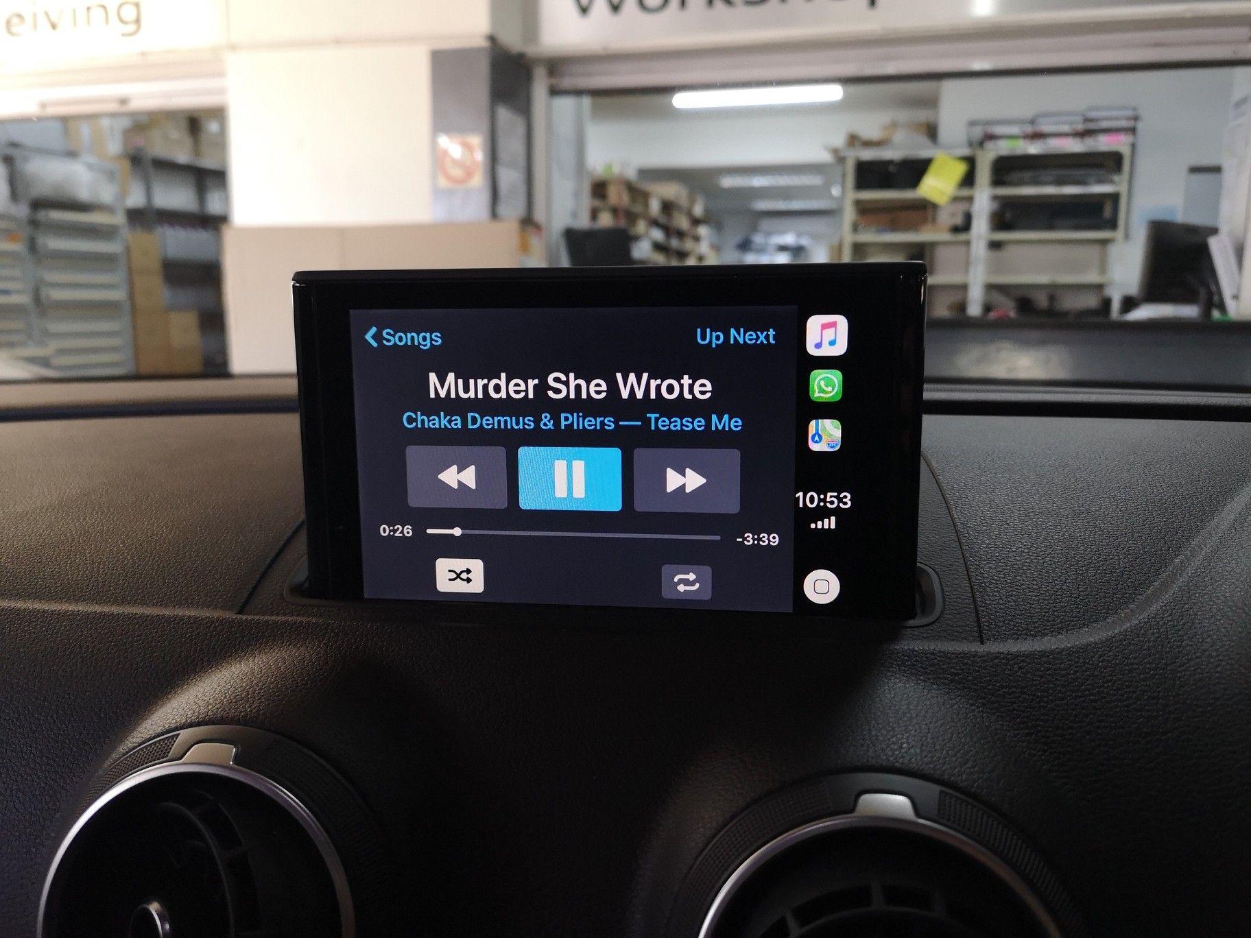Audi Smartphone interface  Audi A3 with virtual cockpit