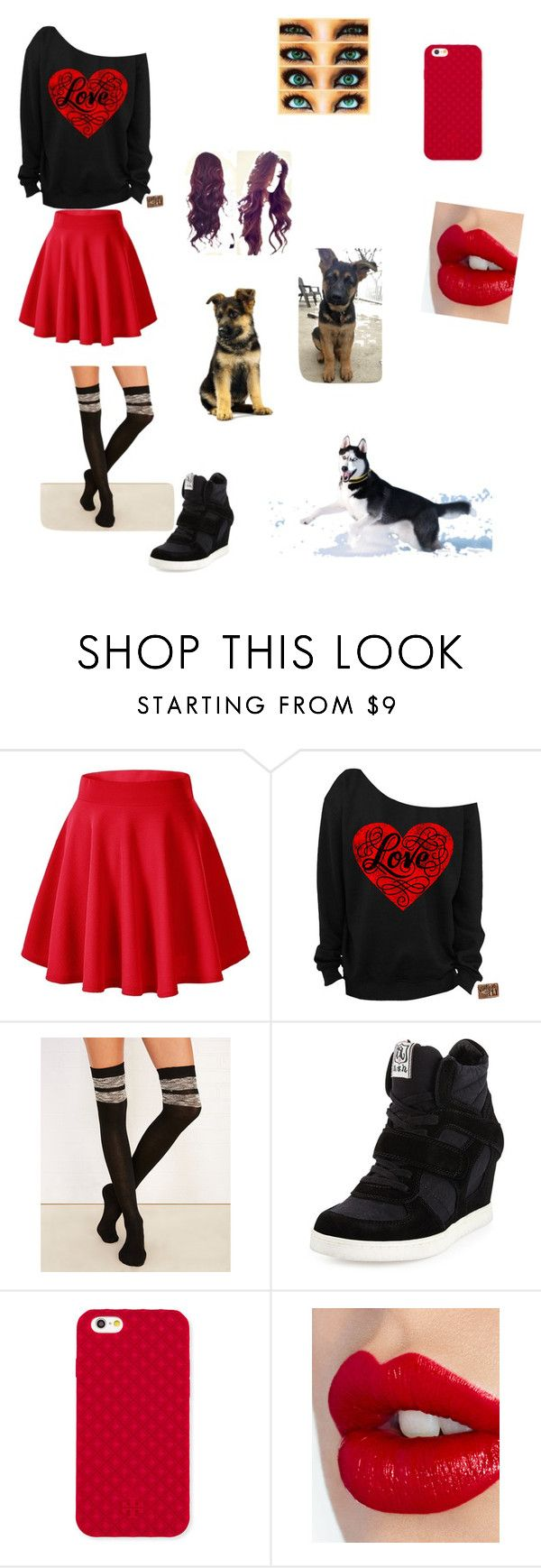 """""""Forever alone on Valentine's Day"""" by mendesmusicforever ❤ liked on Polyvore featuring Wet Seal, Ash, Tory Burch and Charlotte Tilbury"""