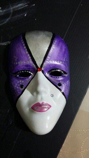 Akrilik Boyamaseramik Mask Tiyatro Kostüm