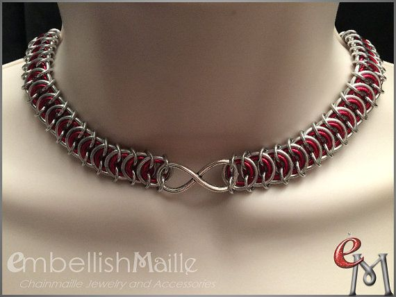 Discrete Submissive Collar: Two-tone Poor by EmbellishMaille