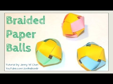 How to Make a Paper Ball   Paper Beads   Braided Paper Ball Decoration Garland Room Ornament Gallery