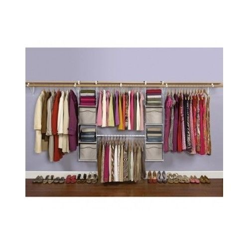 Adjustable Clothes Rack Closet Storage Organizer Moveable Shelving Wardrobe  #Rubbermaid.