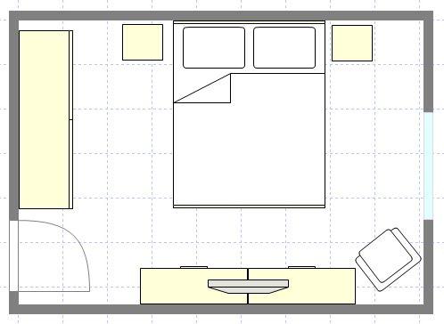 AGGIORNAMENTO: disposizione arredo - Camera da letto | Habitacion 1 ...