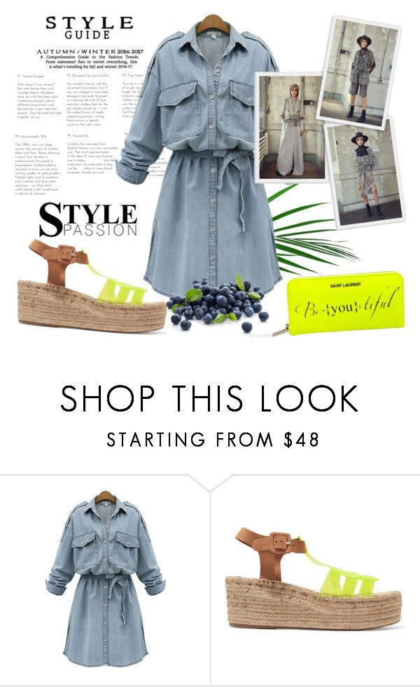 """Bez naslova #2073"" by suzieq-suzieq ❤ liked on Polyvore featuring WithChic, Paloma Barceló and Yves Saint Laurent"