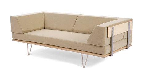Case Study V Leg Day Bed Sofa W Arms By Modernica Made In