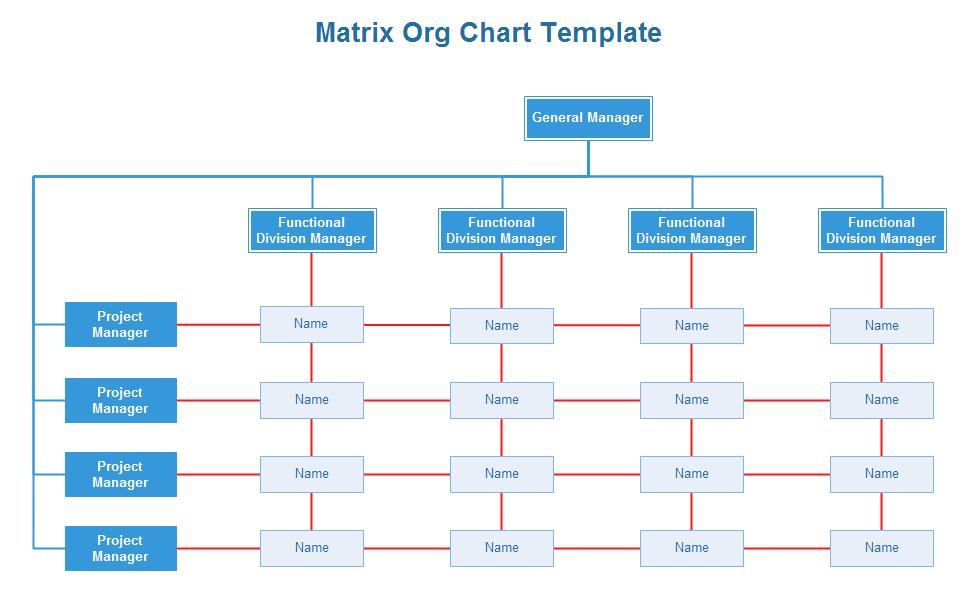 business organization chart template