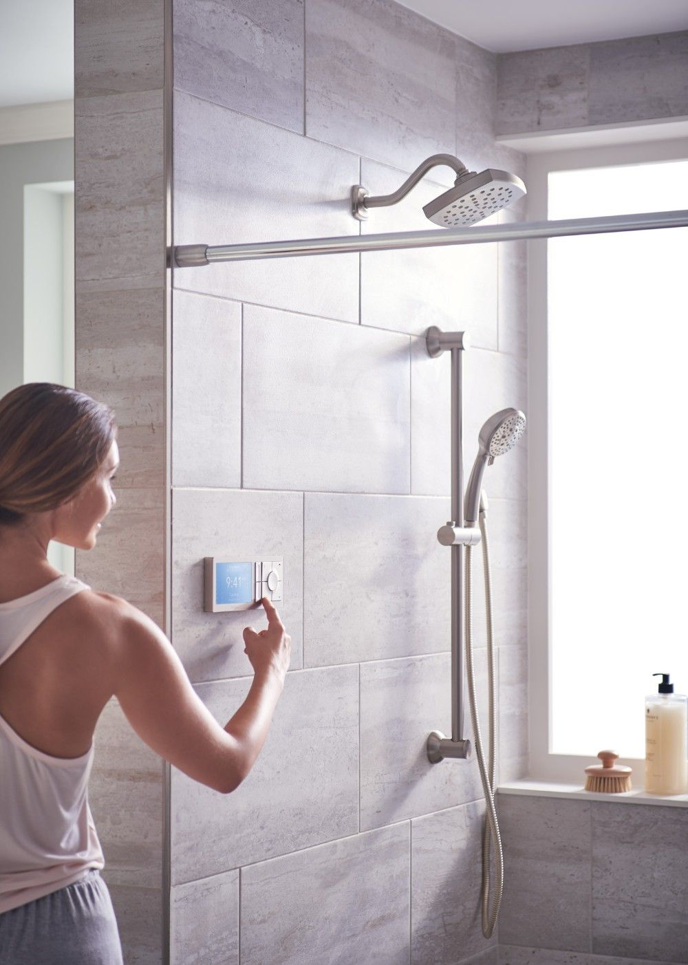 U by Moen Shower terra beige 2outlet digital shower
