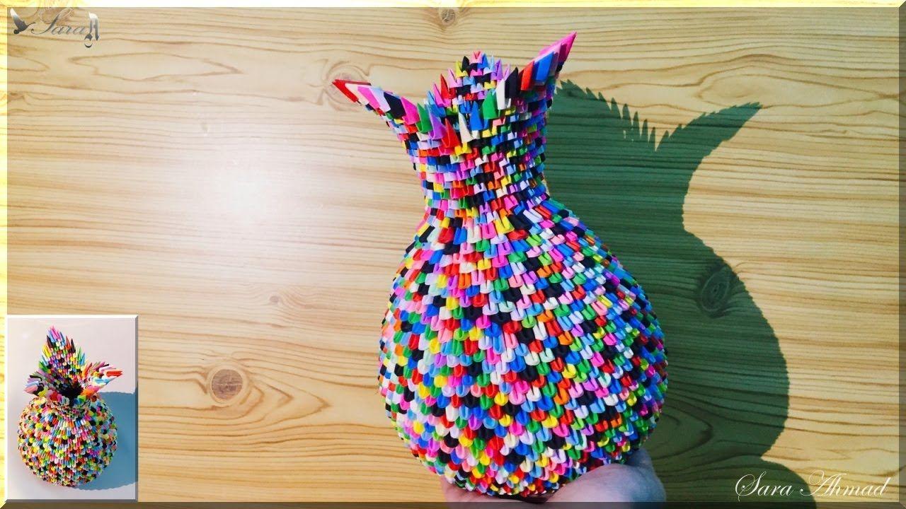 How to make 3d origami vase 37 3d origami pinterest 3d how to make 3d origami vase 37 floridaeventfo Images