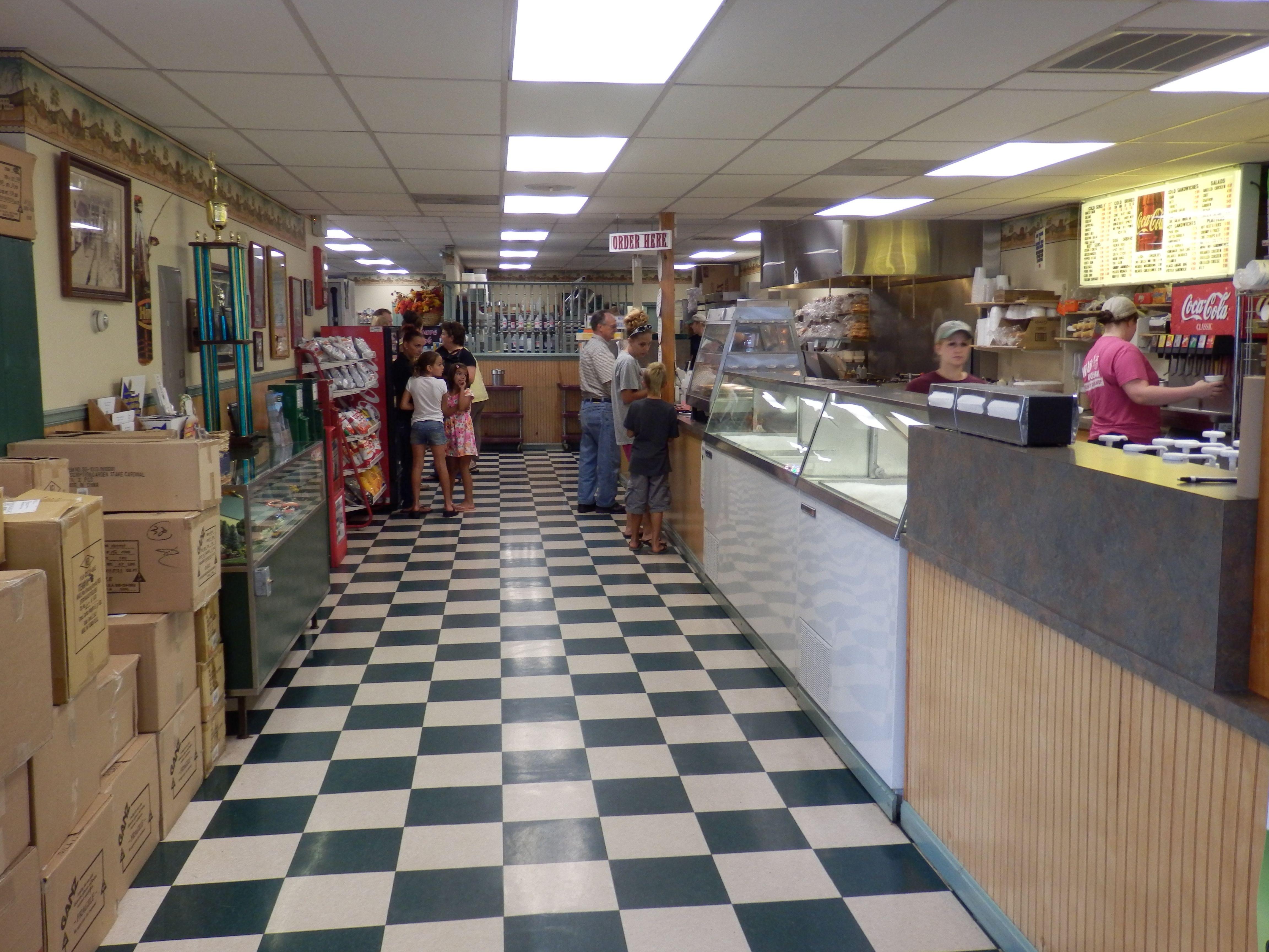 greencastle, pa - mikie's ice cream shop has counter service where