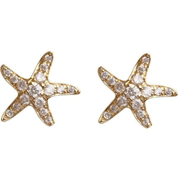 Love Diamonds Starfish Stud Earrings Would Like It Better In White Gold