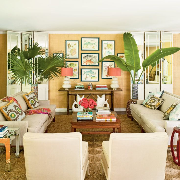 Bright And Colorful Rooms Tropical Style: 10 Island-Inspired Living Rooms