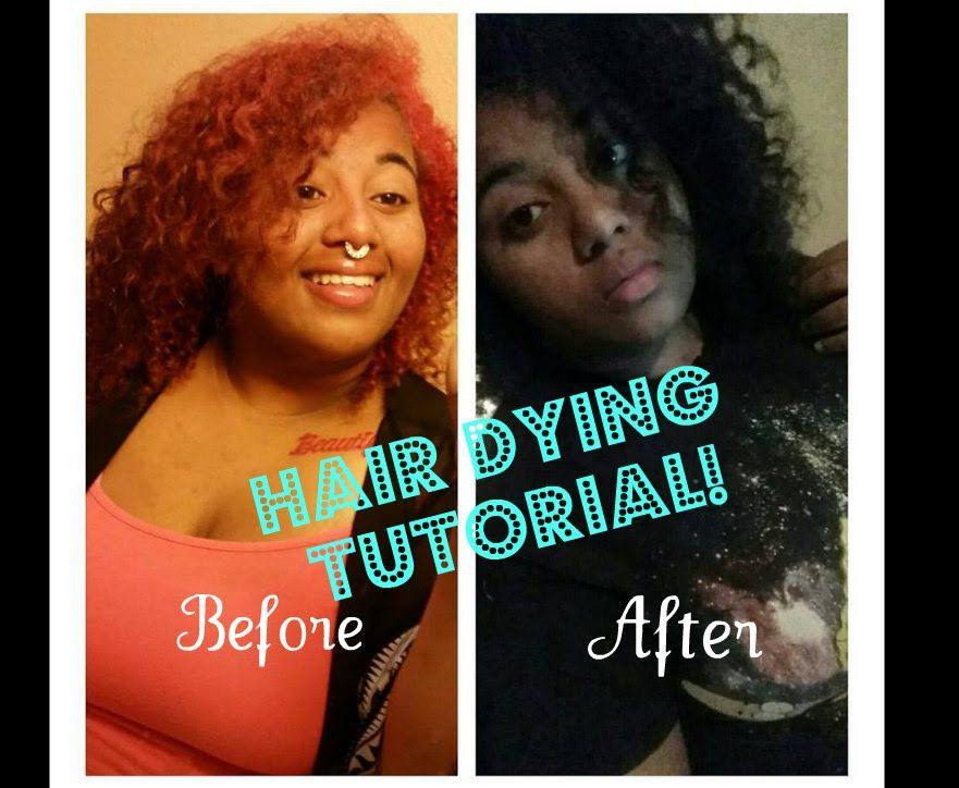 Black is the New Orange: Dying my Hair!