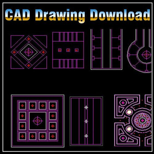 ☆【Ceiling Design Template】☆-CAD Library | AutoCAD Blocks
