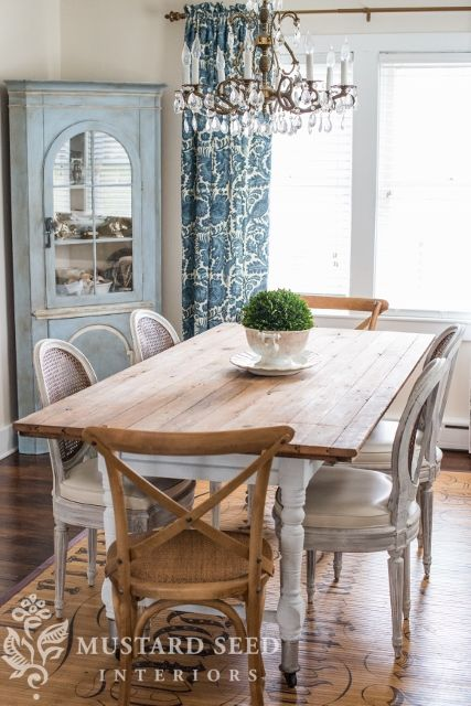 the old, new dining room table - miss mustard seed | dining rooms