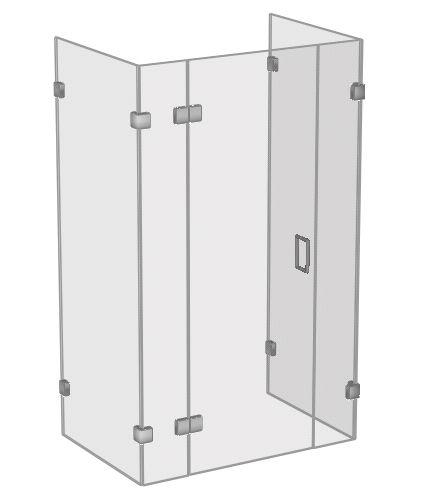 3 Sided Shower Enclosures Shower Enclosure Glass Shower